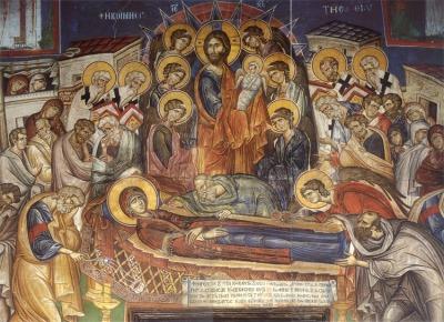 Αποτέλεσμα εικόνας για πατερικοι λογοι στην κοιμηση της θεοτοκου